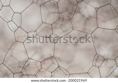 Small red micro structure  isolated over a gray background - stock photo