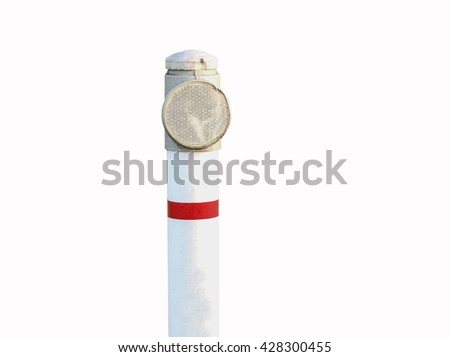 small reflector isolated on white background - stock photo