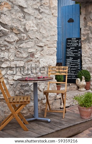 Small restaurant in Provence