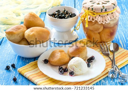 Small Rich Sponge Cake Baba Typically Soaked In Rum Flavored Syrup Canned Sponge