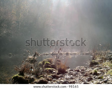 Small river in the morning, portugal