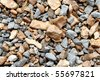 Small rocks for background - stock photo