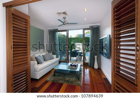 Small room in stylish home - stock photo