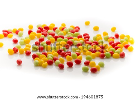 Small round candy-colored on the white background.