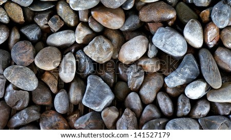 small round rock background - stock photo