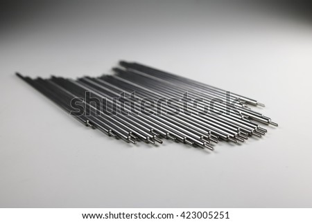 Small round steel bars - stock photo