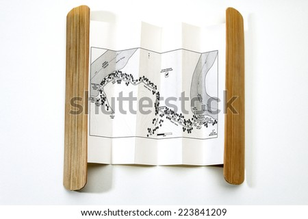 Small Rural Map - stock photo