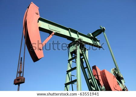 small scale crude-oil production in europe - stock photo