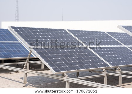 Small-scale solar power generation equipment on the roof