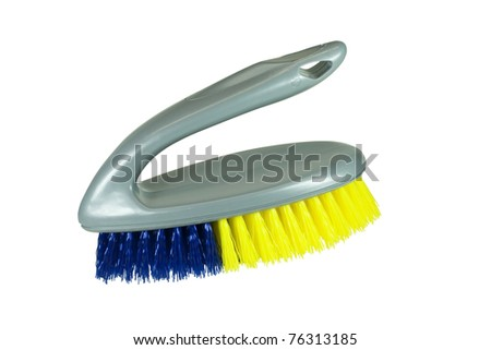 small scrub brush on white with clipping path at this size