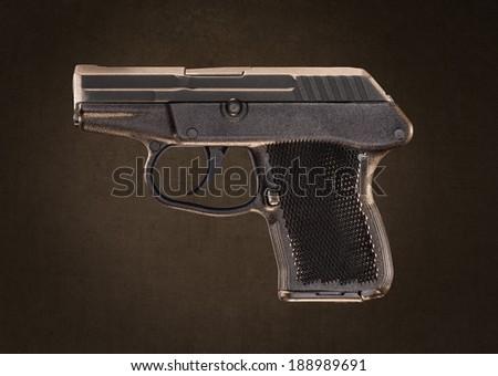 Small Semi Automatic Plastic Handgun - stock photo