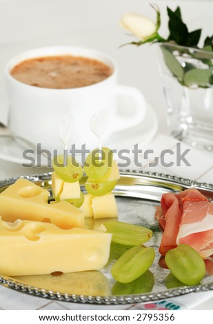 Small snack with coffee