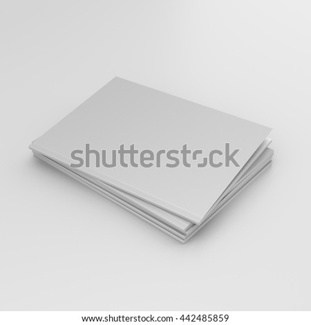 small stack of catalogs or magazines isolated. 3D render