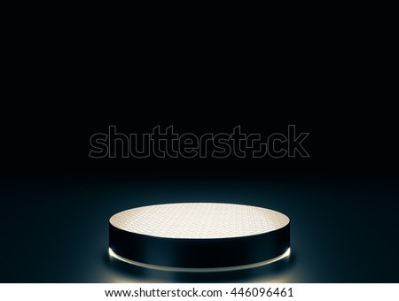 Small stage in the background 3D rendering. - stock photo
