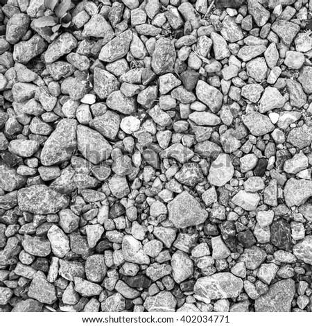 small stone asphalt texture background black granite gravel - stock photo