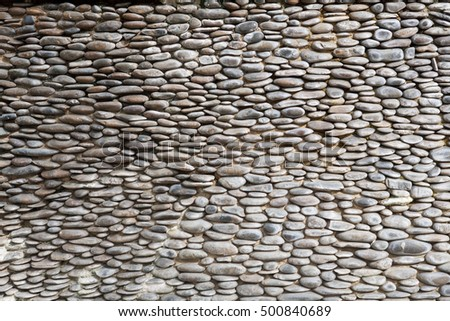 small stone lined walls background