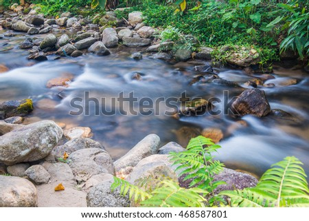 Small stream in Thai country, Thailand