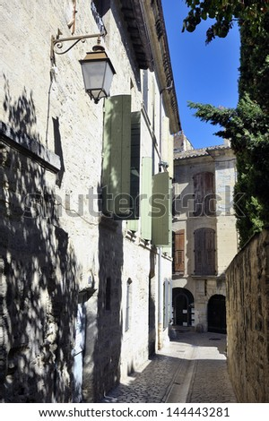 small street of the town of Uzes