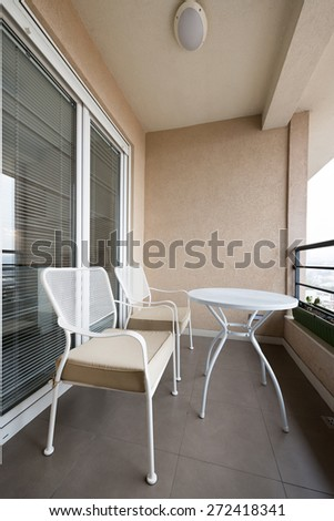 Small terrace in apartment