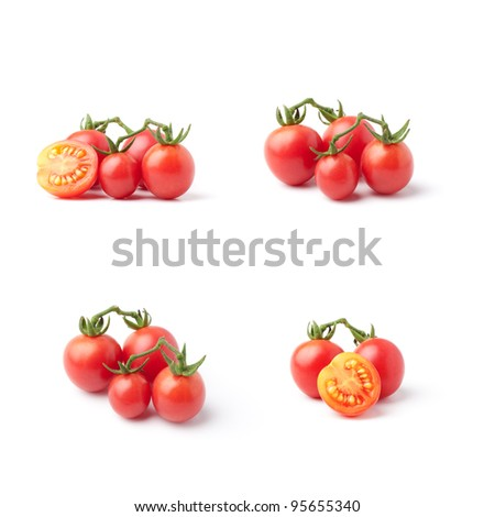 Small tomatoes set - stock photo