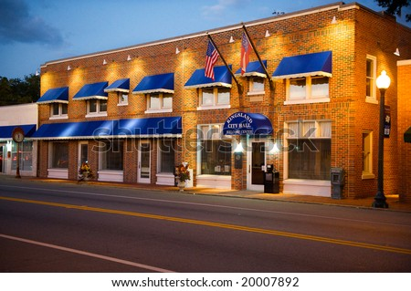 Small Town City Hall - stock photo