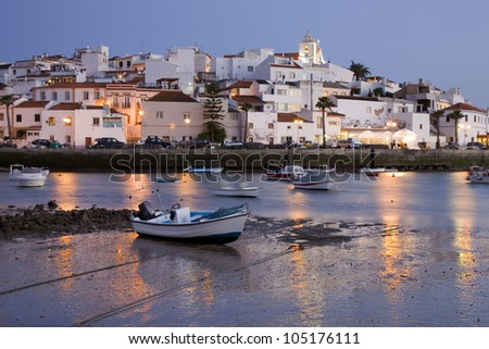 small town of Ferragudo in the south of Portugal