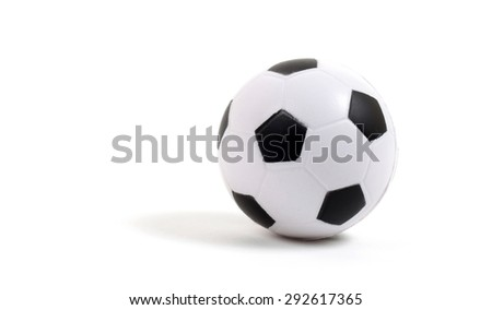 Small toy basketball ball isolated on white background - stock photo