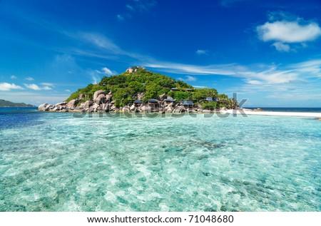 Small tropical island, Thailand - stock photo