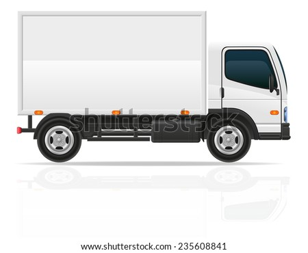small truck for transportation cargo illustration isolated on white background