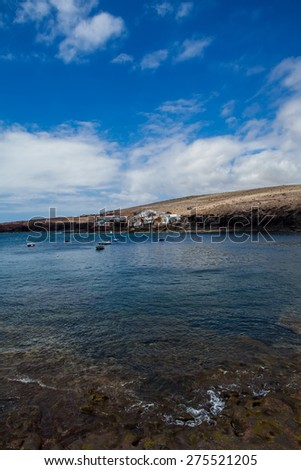 small village near the sea in gran canaria island called Tufia - stock photo