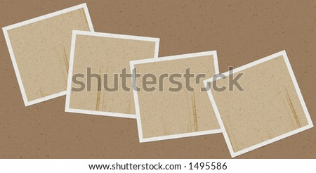 small Vintage frames for easy use and populate with your own images - stock photo