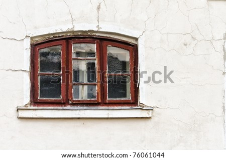 small vintage window - stock photo