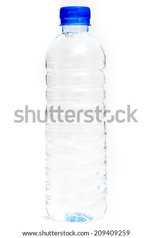 Small water bottle - stock photo