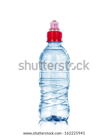 Small water bottle, isolated on white - stock photo