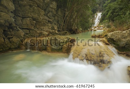 Small waterfall in Polilimnio, Messinia, Greece
