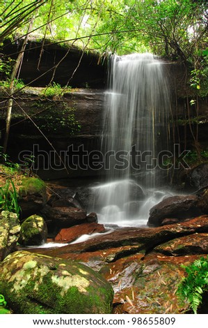 Small waterfall in Thailand - stock photo