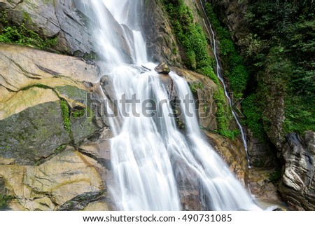 Small waterfalls, the beauty of nature