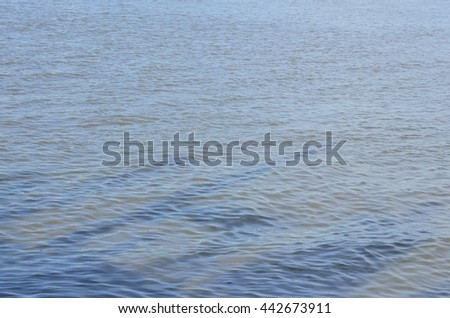 small wave in river