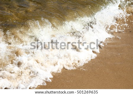 small wave on beach on sea