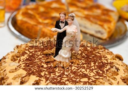 small wedding cake - stock photo