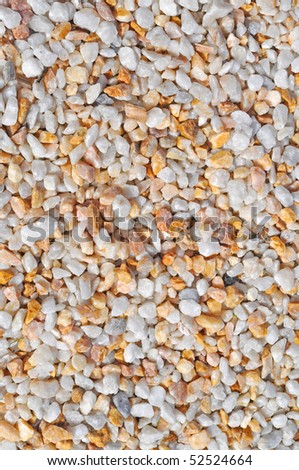 small white and orange gravel, background, texture