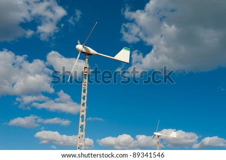 Small wind generator as used to privately power a single home