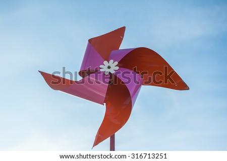 Small wind turbine energy innovation, clean energy, eco-friendly alternative.  - stock photo