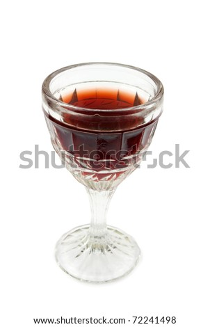 small wine-glass isolated on a white background - stock photo