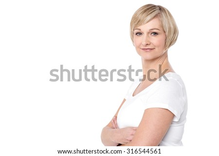 Smart and confident woman - stock photo