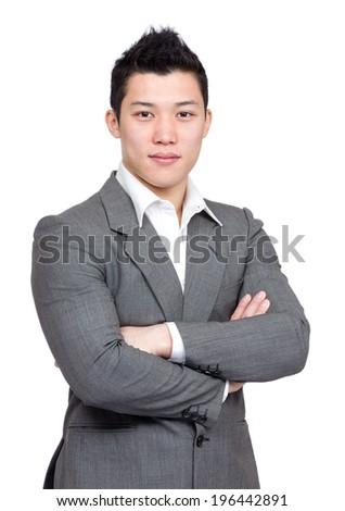 Smart asian business man - stock photo