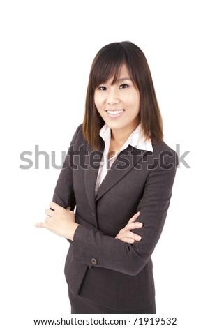 Smart asian business woman - stock photo