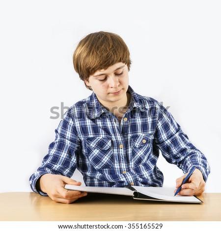 smart boy learning for school - stock photo