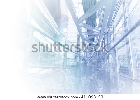 smart building and mesh network, abstract image visual - stock photo