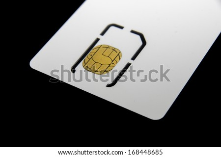 Smart card - SC - for mobile phone or smartphone or tablet computer  - stock photo
